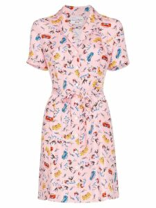 HVN Maria Miami print mini dress - Pink