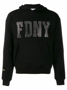 Danielle Guizio stone embellished hoodie - Black