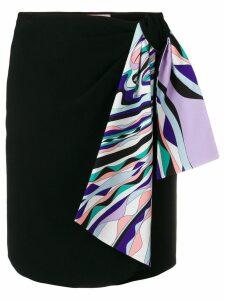 Emilio Pucci Scarf-Detail Skirt - Black