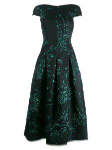 Talbot Runhof Portsmith silk jackquard dress - Green