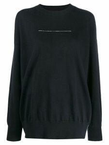Mm6 Maison Margiela statement stitch jumper - Black