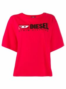 Diesel contrast logo T-shirt - Red