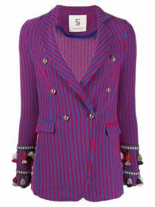 5 Progress striped blazer - Blue