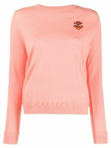 Chinti & Parker anchor embroidered sweater - Pink