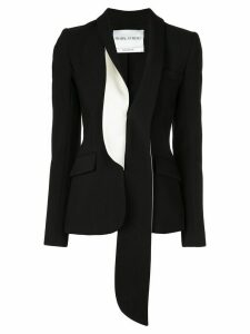 Prabal Gurung asymmetric fitted blazer - Black/White