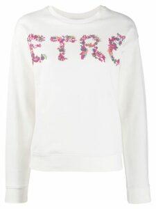Etro logo sweatshirt - White