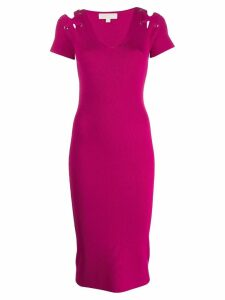 Michael Michael Kors ribbed knitted dress - Pink
