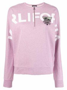 Karl Lagerfeld Karlifornia Cropped Sweatshirt - Pink