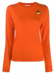 Chinti & Parker lemon embroidered sweater - Orange