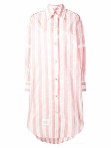 Thom Browne 200% Mid Repp Stripe Armband Shirt - Pink