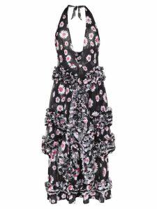 Molly Goddard daisy print ruffled dress - Black
