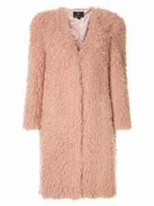 Unreal Fur faux fur De Fur Coat - Pink