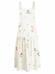 Chinti & Parker nautical sun dress - White