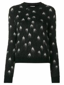 Saint Laurent star intarsia jumper - Black