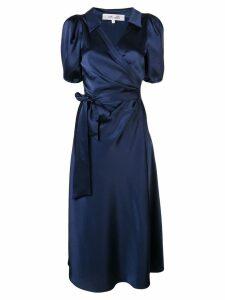 Diane von Furstenberg short-sleeve wrap midi dress - Blue