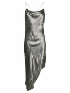 Haney Goldie asymmetric dress - SILVER