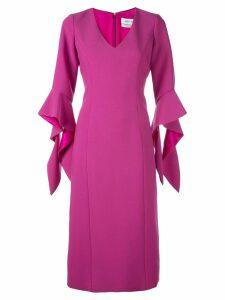Prabal Gurung ruffled cuff dress - Pink