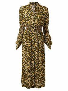 Kitx Dandelion shirred dress - Black