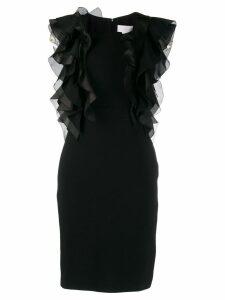 Genny Abito ruffle trim dress - Black