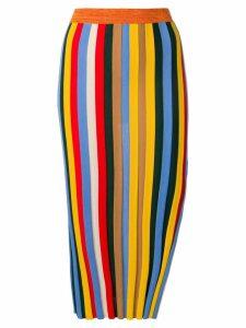 Sonia Rykiel striped pencil skirt - Yellow