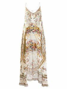 Camilla overlay floral top - Neutrals