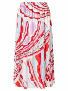 Emilio Pucci Burle Print Midi Skirt - Red