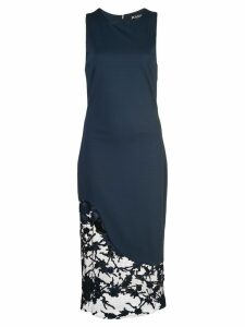 Haney lace-panelled dress - Blue