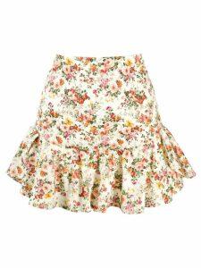 Forte Dei Marmi Couture floral flounce skirt - Neutrals