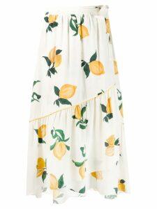 Chinti & Parker lemon wrap skirt - Neutrals
