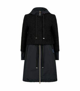 Hybrid Tweed Coat