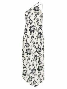 Alexa Chung floral print one shoulder dress - Neutrals