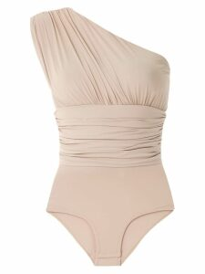 Amir Slama ruched panel body top - Neutrals