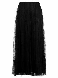 Valentino lace midi skirt - Black