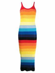 Chinti & Parker striped slip dress - Yellow