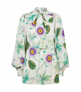 Floral Fruit Pussybow Blouse