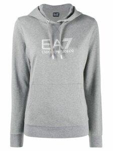 Ea7 Emporio Armani kangaroo pocket hoodie - Grey