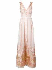Marchesa Notte embroidered gown - Pink