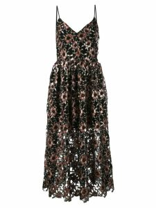 Prabal Gurung sequined midi dress - Black