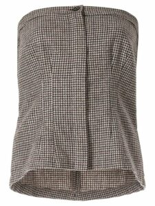 Zambesi houndstooth tube top - Grey