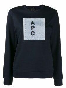 A.P.C. contrast logo jumper - Blue