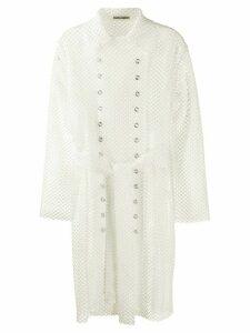 Jourden mesh style trench coat - White