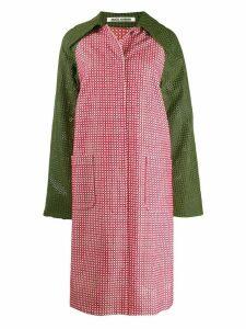 Jourden colour block mesh style coat - Red