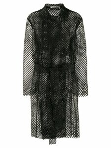 Jourden mesh design trench coat - Black