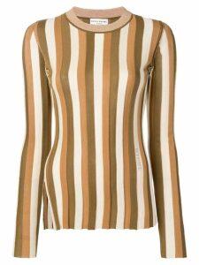 Sonia Rykiel striped knit jumper - Brown