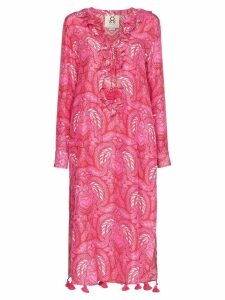 Figue Cerelina batik-print midi dress - Pink