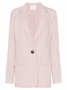 Tibi striped single-breasted blazer - Pink