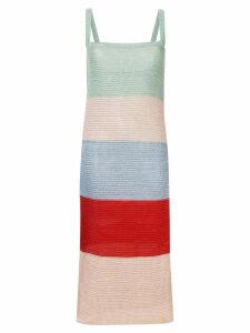 Suboo Lucy Knitted Wide Stripe Midi Dress - Multicolour