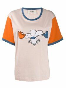 Marni printed colour block T-shirt - Orange