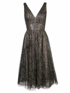 Marchesa Notte sequinned V-neck gown - Black