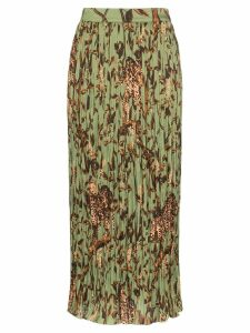 Johanna Ortiz Jo the Act of Nature pleated skirt - Green